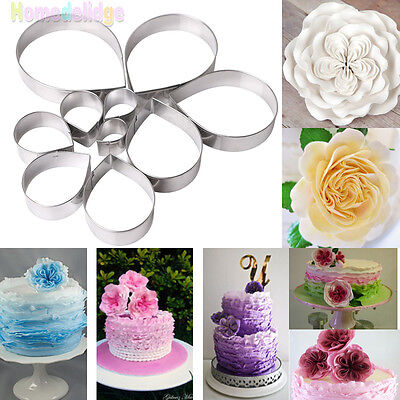 Flower 6 Petal Cookie Cutter Biscuit Pastry Fondant Stencil Sharp NA9