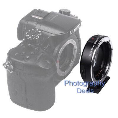 Viltrox EF-M2 II AF Adapter Focal Reducer Booster For Canon EF Lens to M43 MFT 9