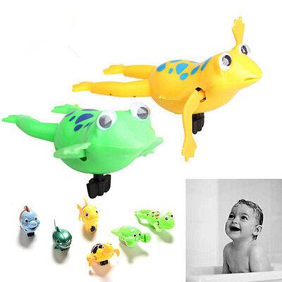 Wind-up Frog Swimming NPol Bath Time Animal Clockwork Floating Kid Baby Toy TWUK 2