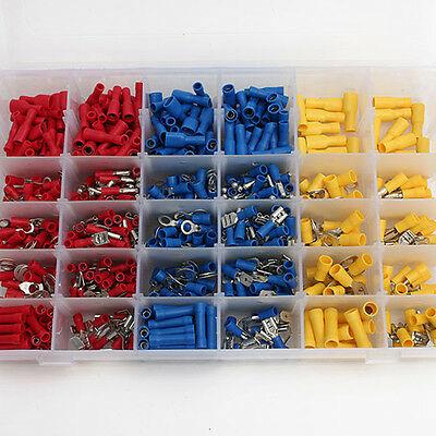 Electrical Wire Connector 720pcs Assorted Insulated Crimp Terminals Spade Set DH 4