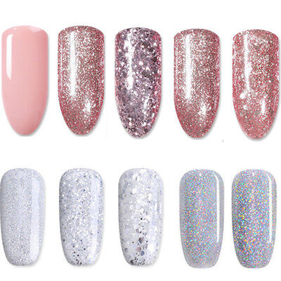 BORN PRETTY Color Changing Rose Gold Glitter UV Gel Nail Polish Soak off Varnish 3