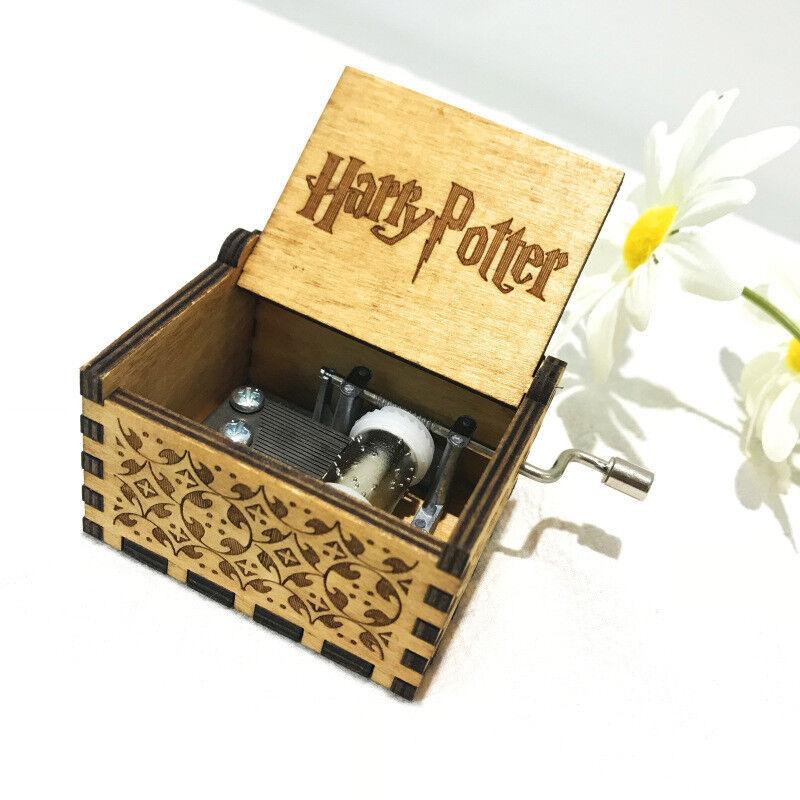 Harry Potter-Spieluhr graviert Musik Holzkiste interessante Spielzeuge Weih LY