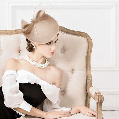 Ladies Felt Wool Fascinator Cocktail Formal Wedding Bridal Hat Headpiece CK024 4