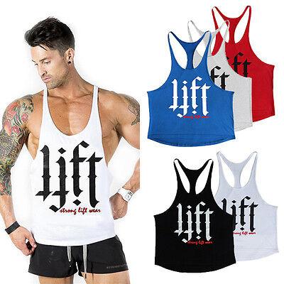 7a0e5becd54b07 ... Mens Stringer Bodybuilding Tank Top Gym Racerback Singlet Sleeveless  Muscle Vest 2