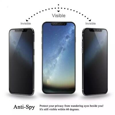 [2-Pack] iPhone X XS XR XS Max Privacy Anti-Spy Tempered Glass Screen Protector 7