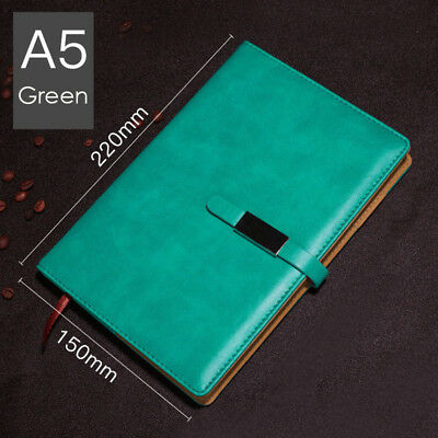 A5 PU Leather Vintage Journal Notebook Lined Paper Diary Planner with Buckle 10