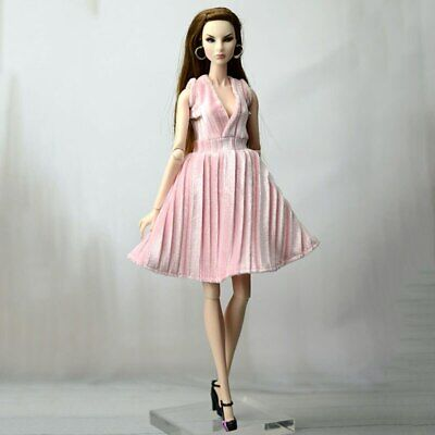 """Pink Pretty Dress For 11.5"""" 1/6 Doll Outfits Fashion Doll Clothes Party Dresses 2"""