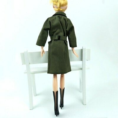 Office Lady Fashion Coat For 1/6 Doll Clothes & Shoes Outfits For 11.5in Doll 3