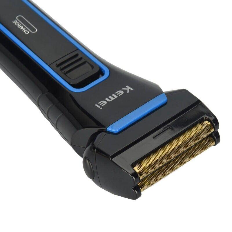 Kemei Comfort Series Men Dual Foil Electric Cordless Shaver Trimmer Rechargeable 3