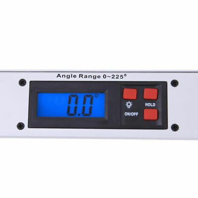 Digital LCD Electronic Angle Finder Meter Protractor Dual Spirit Level 1pc 400MM 6