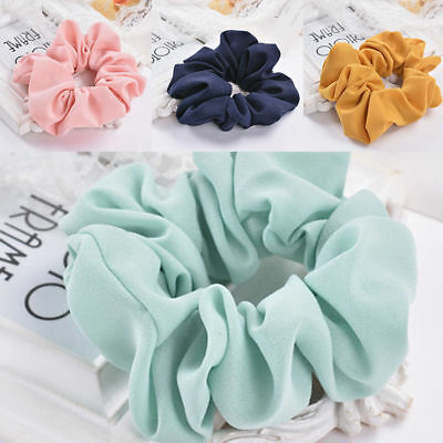 Girls Lady Pure Color Trendy Hair Ring Elastic Bobble Sports Dance Scrunchie IL 3
