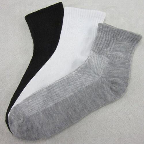 Mens Womens Cotton Rich Sport Socks Work Ankle Official Sockss 10