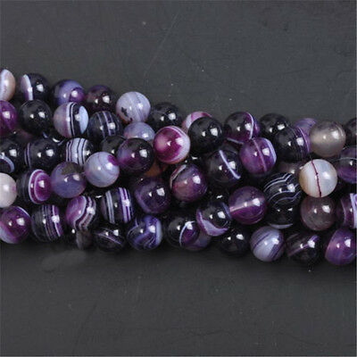 Natural Gemstone Round Spacer Loose Beads 4MM 6MM 8MM 10MM  Assorted Stones 10