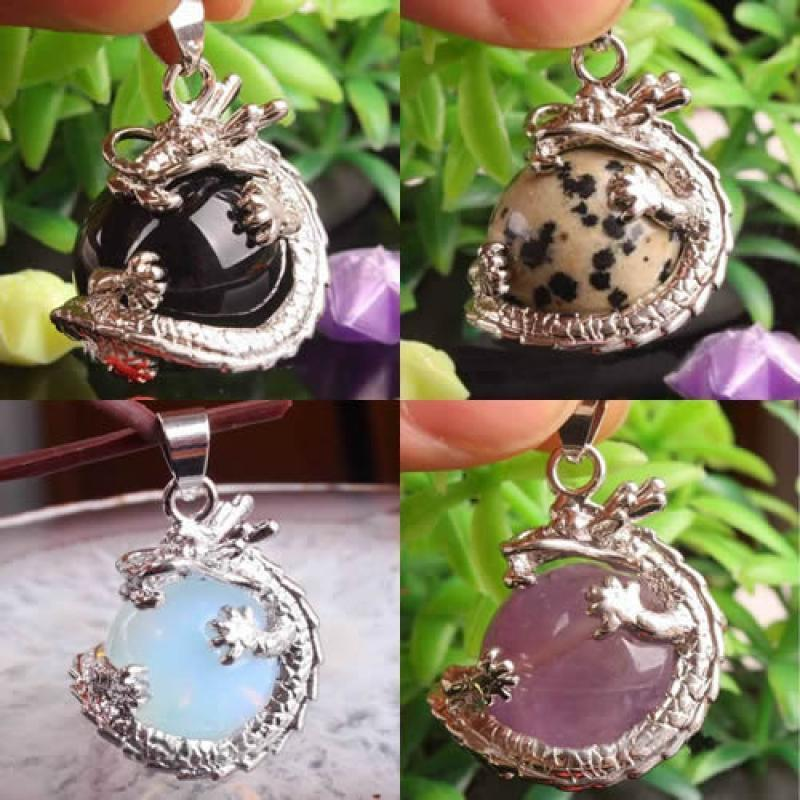 Resin Gemstone Dragon Crystal Pendant Fashion Charms Jewelry no Necklace Chain 4