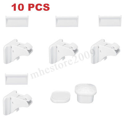 ❤ 10PCS Magnetic Cabinet Drawer Cupboard Locks Baby Kids Child Safety 11