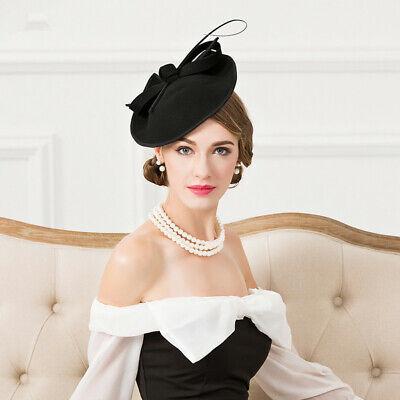 Ladies Felt Wool Fascinator Cocktail Formal Wedding Bridal Hat Headpiece CK024 6