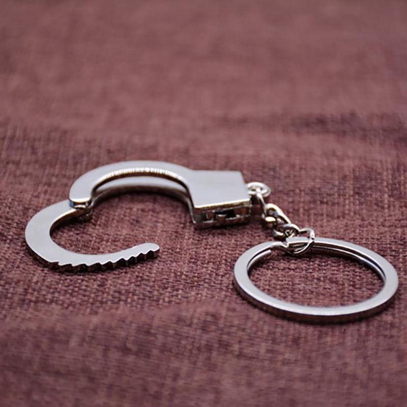 Fashion Men's New Gift Key Chains Keychain Keyfob Keyring Handcuffs Mini size ^ 3