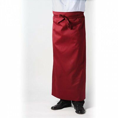 1A Kochschürze Gastronomieschürze Vorbinder Kellner Schürze schwarz weinrot blau