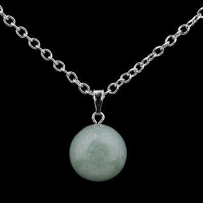Round Ball Pendant Necklace Gemstone Rock Crystal Quartz Chakra Natural Stone 2