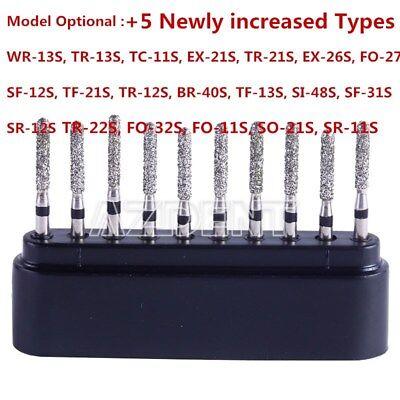 20 Type Dental Diamond Bur Drills Turbine Burs For High Speed Handpiece 10Pc/Box 2