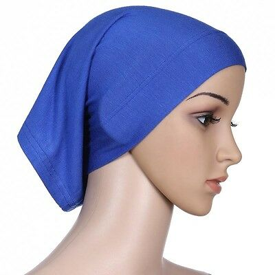 Muslim Women Hijab Under Scarf Inner Cap Bone Bonnet Neck Cover Cap Head Wrap 7