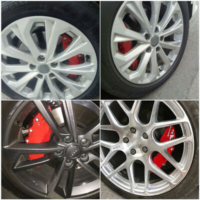 2PCS Fit For Car Wheel Brake Caliper Cover Front Rear Dust Resist Hot Sale