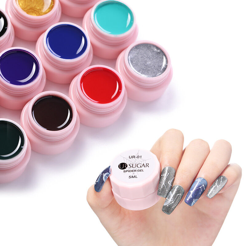 UR SUGAR 5ml Spider UV Gel Polish Elastic Drawing Soak Off Gel Nail Art Manicure 6
