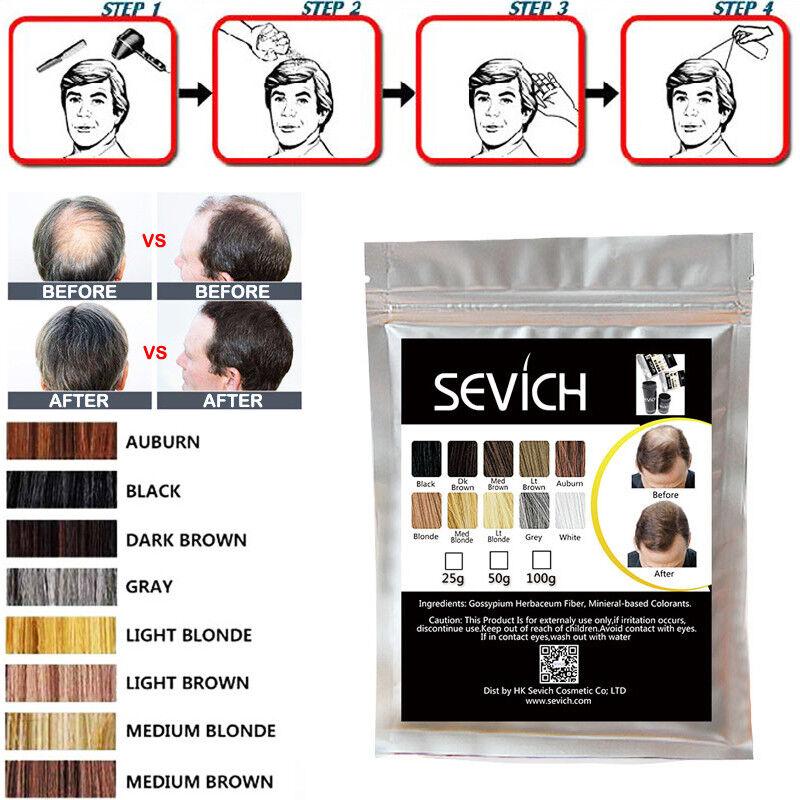 Sevich 100g Bags Hair Building Fiber Powder Keratin Loss Treatment Refill Bulk 6