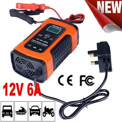 UK Intelligent 12V Motorcycle Motorbike Battery Charger Automatic Smart Trickle 11
