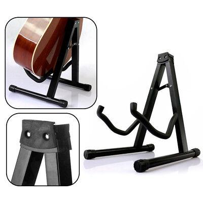 Folding Guitar Stand Floor Rack Electric Acoustic Bass Gig Holder AU 3