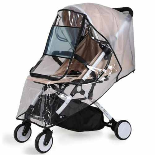 Universal Waterproof Zipper Plastic Non Toxic Rain Cover For Baby Stroller Clear 2