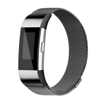 Magnetic Milanese Stainless Steel Watch Band Strap For Fitbit Charge 2 UK