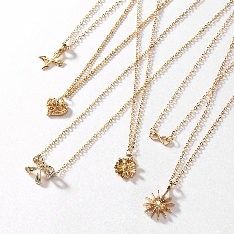 Gold Plated Pearl Bar Dragonfly Butterfly Animal Pendant Necklace Jewelry Gifts 12