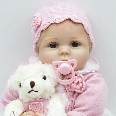 "22"" Real Life Baby Dolls Silicone Vinyl Reborn Lifelike Realistic Newborn Girl A 10"