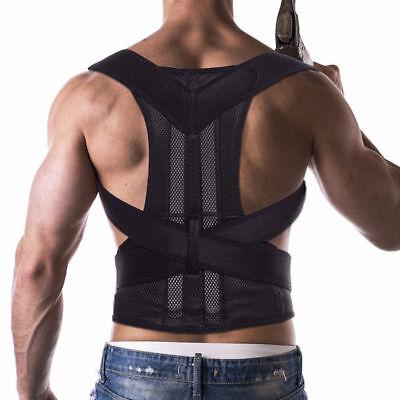 Unisex Posture Corrector Lumbar Lower Back Support Shoulder Brace Pain Magnetic 3