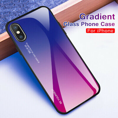 Tempered Glass Phone Case For Apple iPhone 11 Pro Max 6S 7 8 Plus X XS MAX XR 5