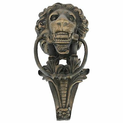 Lion Head Front Door Knocker Vintage Antique Cast Iron 18t Century Italian Style