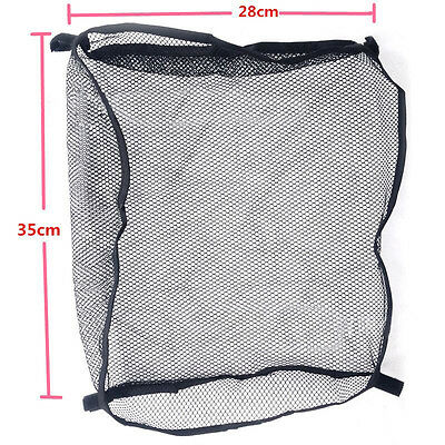 Practical Baby Stroller Black Hanging Safe Mesh Bag Trolley Storage Basket Net