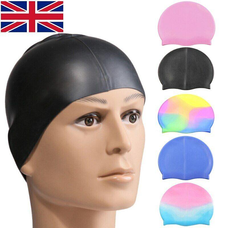 Children's Kids Girls Boys Swimming Cap Silicone Latex Swim & Waterproof Hat 1pc 3