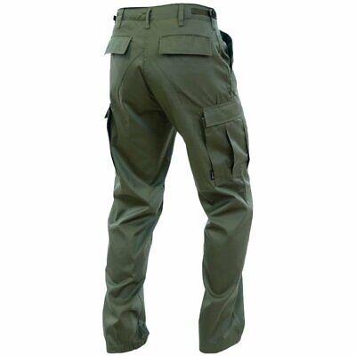 XXL Mil-Tec Homme Ripstop Vintage BDU US Armée Pantalon Militaire Vert S