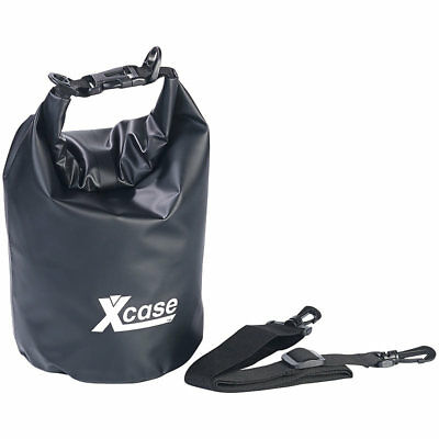 Wasserdichter Schwimmsack Xcase Wasserdichte Tasche: Wasserdichter Packsack 25 Liter aus strapazierf/ähiger LKW-Plane blau