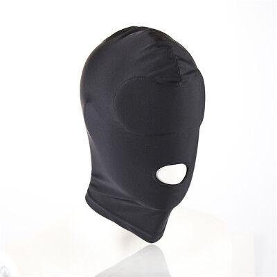 1*Senior Fetisch Harness Kopf Spiel Bondage Bound Restraint Maske Hood BDSM #CT2 7