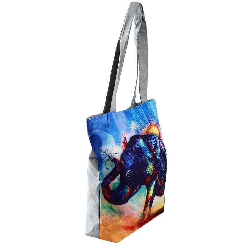 Handbag Elephant Printed Tote Casual Beach Bags Shoulder Shopping Casual JJ 11