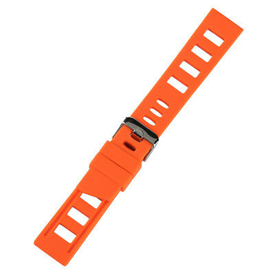 20/22mm Silicone Rubber Watch Band Strap Replacement Bracelet Spring Bars 12