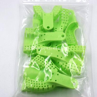 10 Pcs Autoclavable Dental Plastic Impression Trays Central Denture Disposable 4