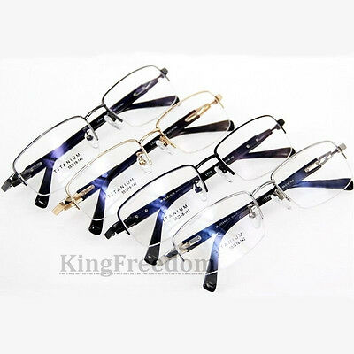 2023492c92 ... 100% Pure Titanium Men s Eyeglass Frames Half Rimless Glasses Eyewear  Rx able 4