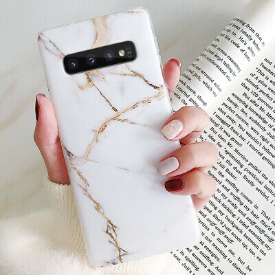 For Samsung Galaxy S10+ S10e S9 S8 Matte Marble Pattern Soft Silicone Case Cover 7