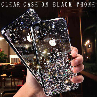 For iPhone 11 Pro XS Max XR X 8 7 Plus Glitter Shockproof Protective Case Cover 2