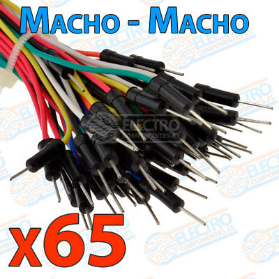 65x CABLE JUMPER macho protoboard arduino pic solderless breadboard wire cables 2
