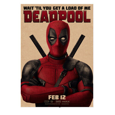 Avengers Deadpool Retro Kraft Paper Poster Cafe Bar Room Decor Painting Picture 3